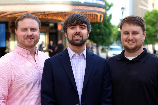 Tenant Turner's founders: Brandon Anderson, James Barrett, and Chris Stewart